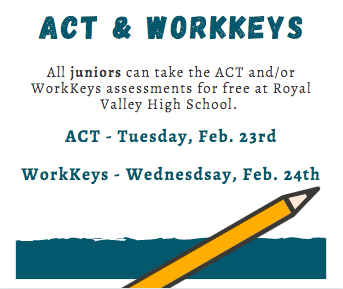 ACT/WorkKeys reminder