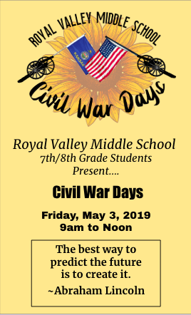 RVMS Civil War Days flyer