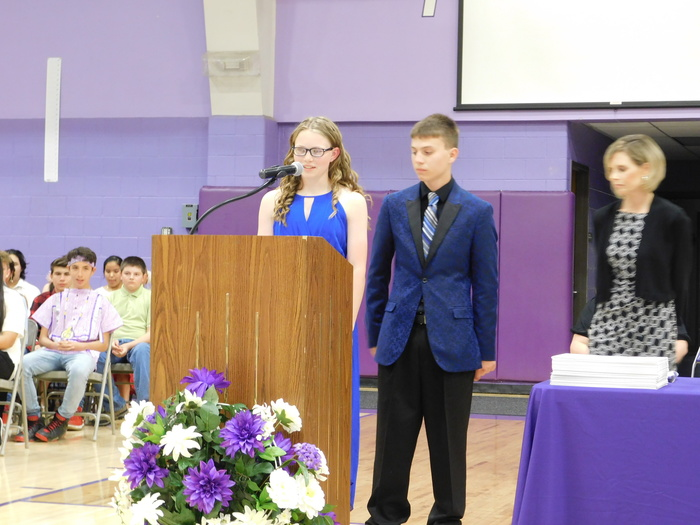 Citizenship awardees, Ben and Abby