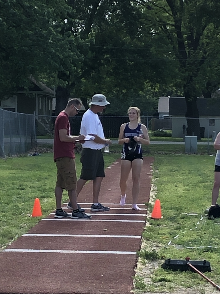 Morgan and Coach B at triple jump