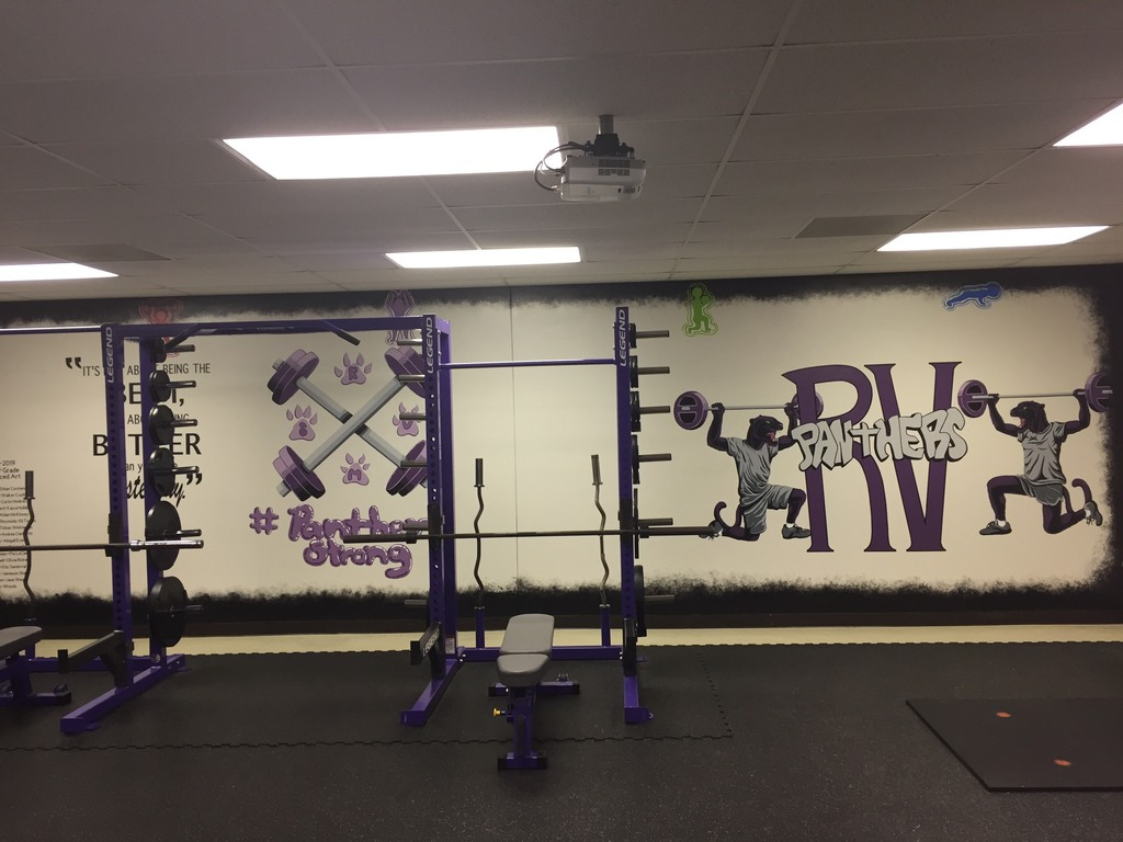 What a wonderful addition to the RVMS weight room.