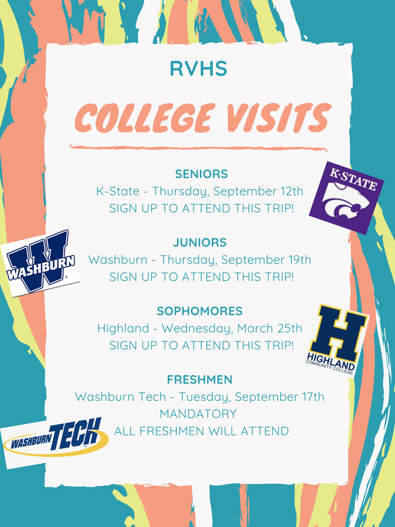 college visits flier
