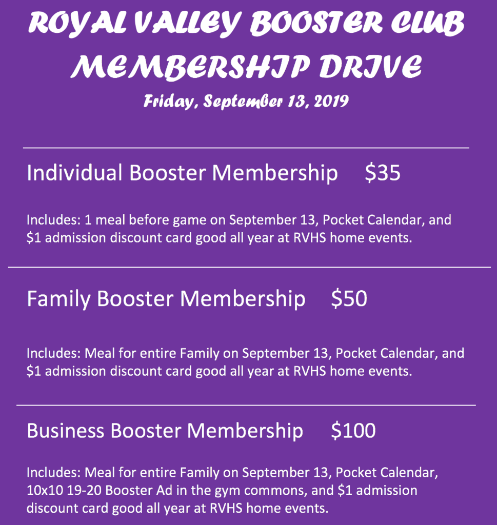 Booster membership prices