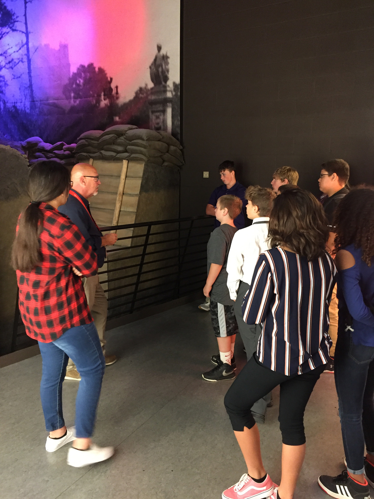 Learning about trench warfare.