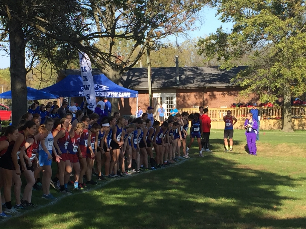 Start of cross country race