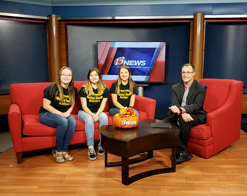 FCCLA members on WIBW set
