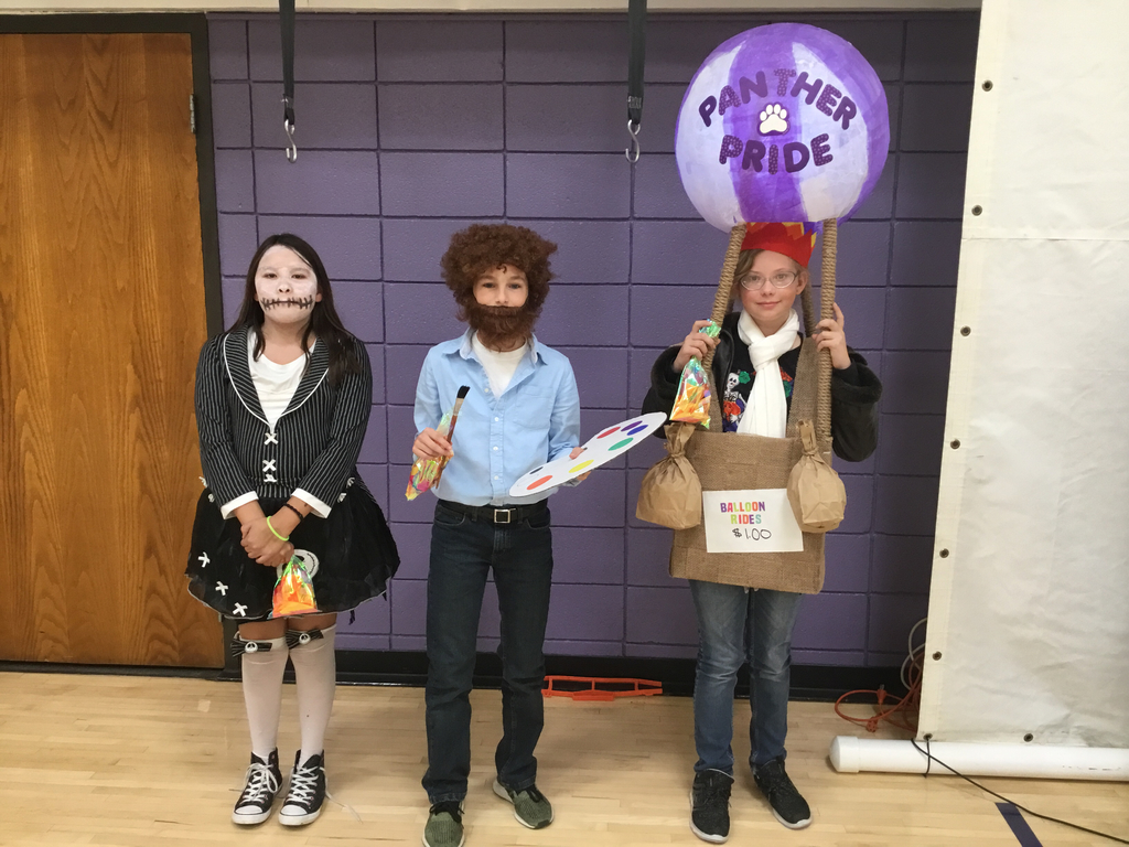 Up, up away with Bob Ross and the scariest costume. 6th grade.