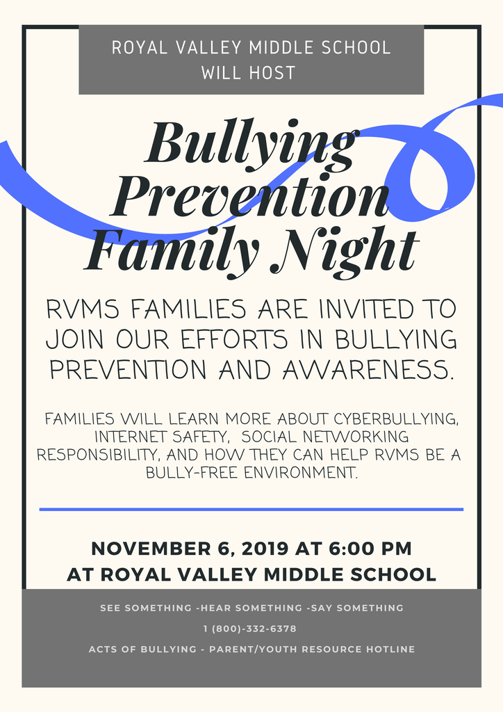 Bullying prevention night flier