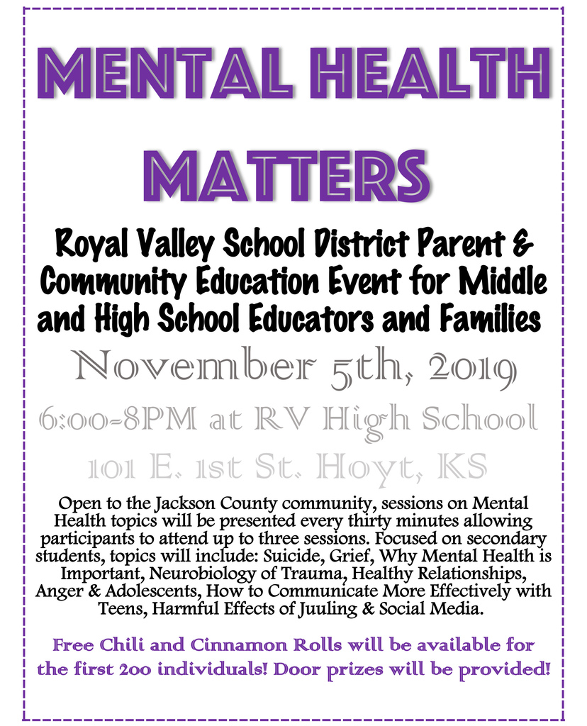 Mental Health Matters flier