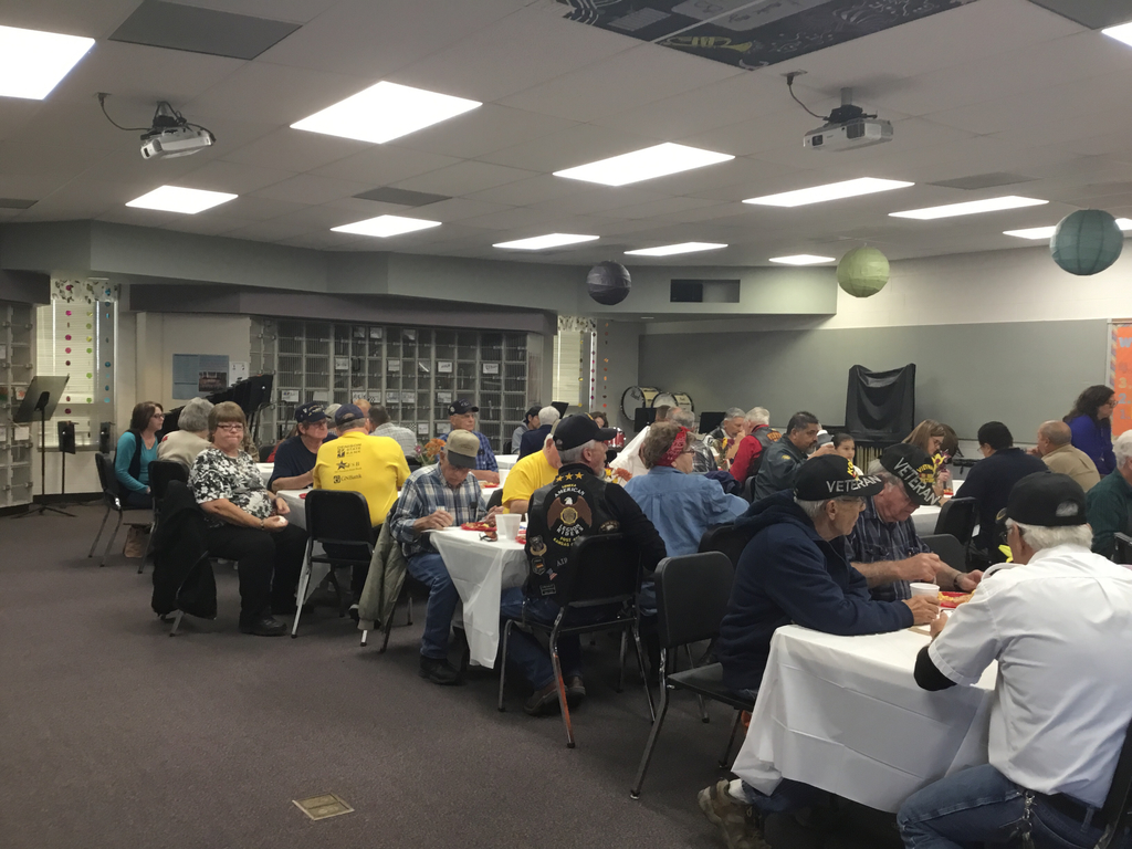 We had 44 Veterans in attendance for the breakfast.