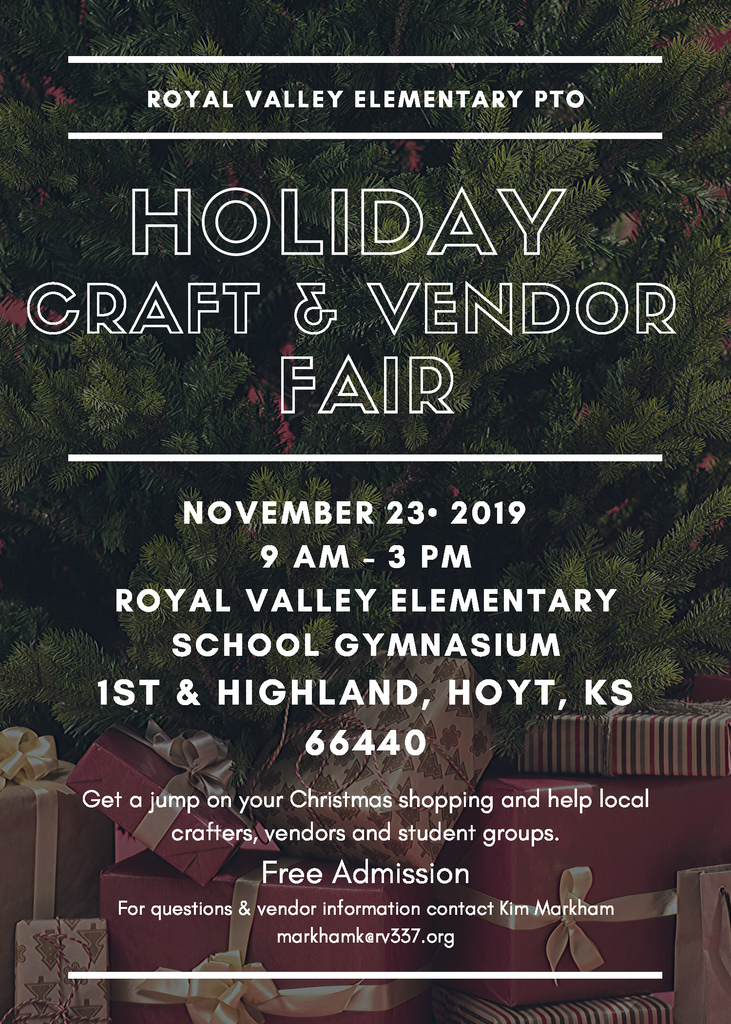 Holiday Craft Sale flier
