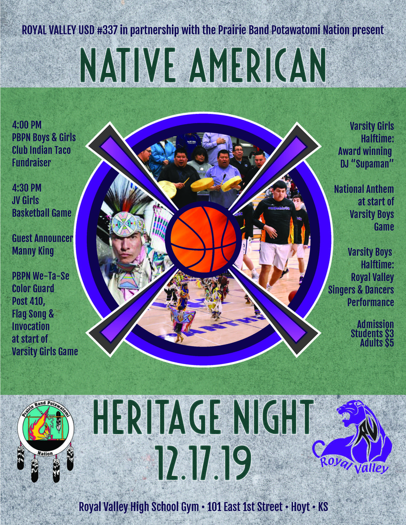 Native American Night flyer
