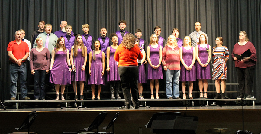 community joining RVHS Soundsations and choir