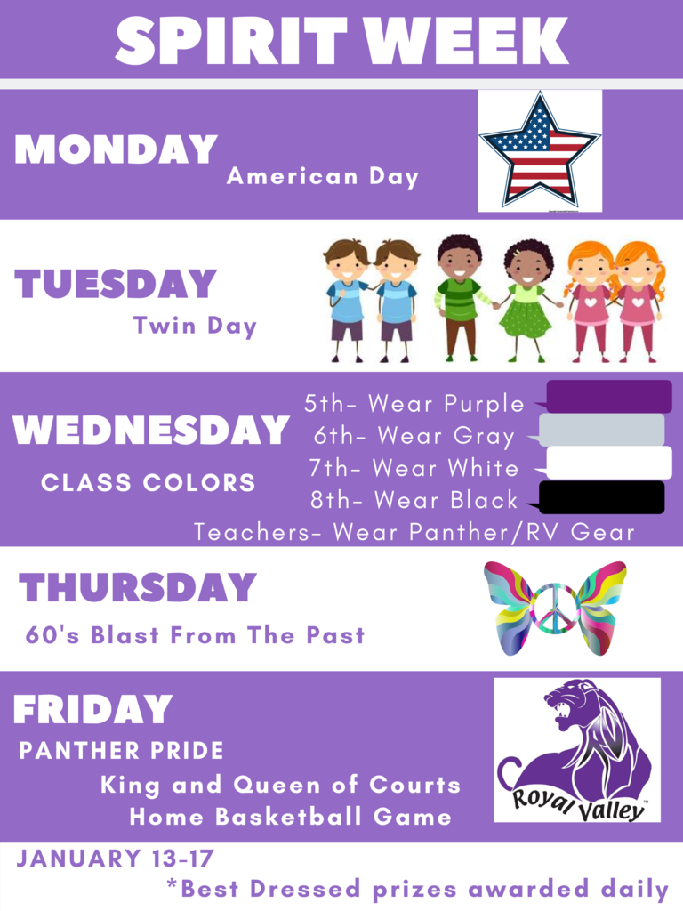 RVMS spirit week days