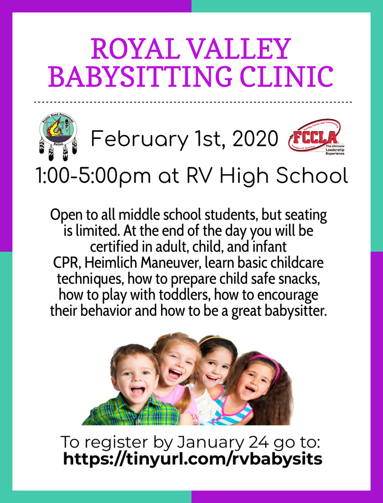 Babysitting clinic flier
