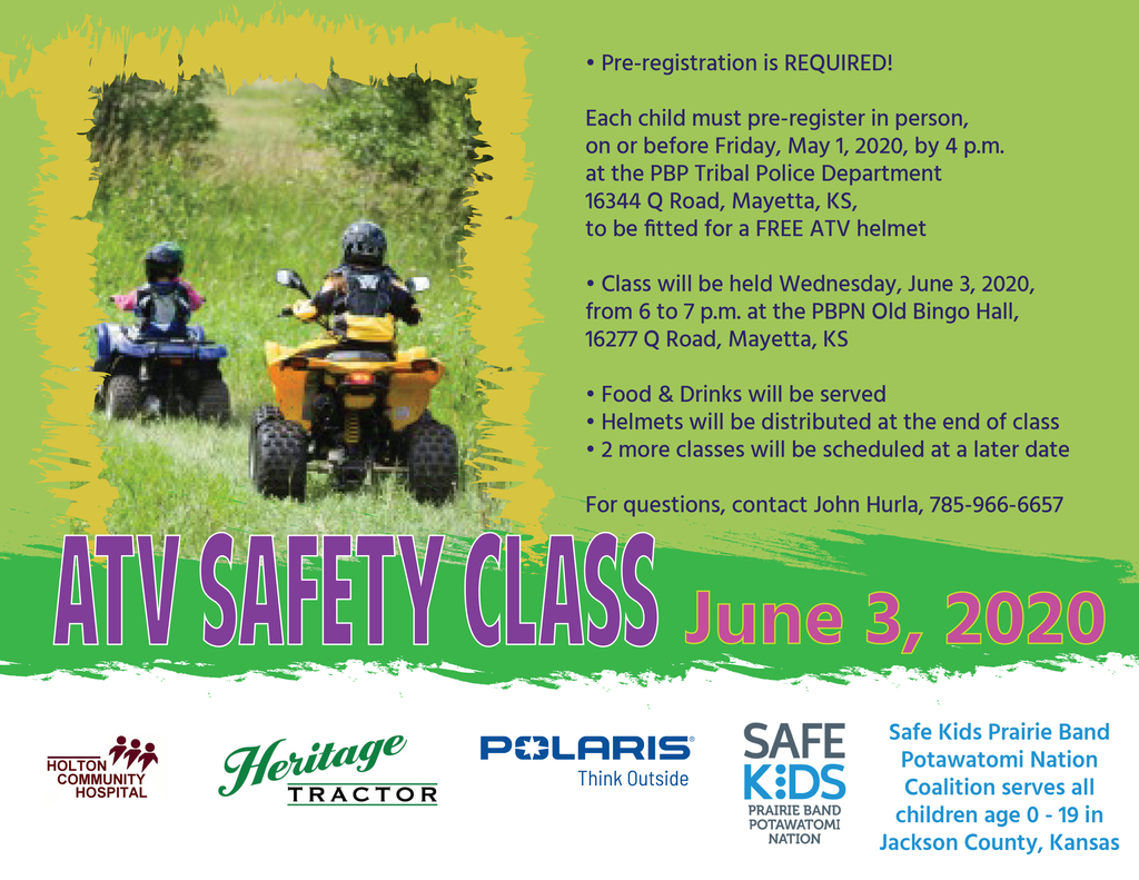 ATV Safety Class flier