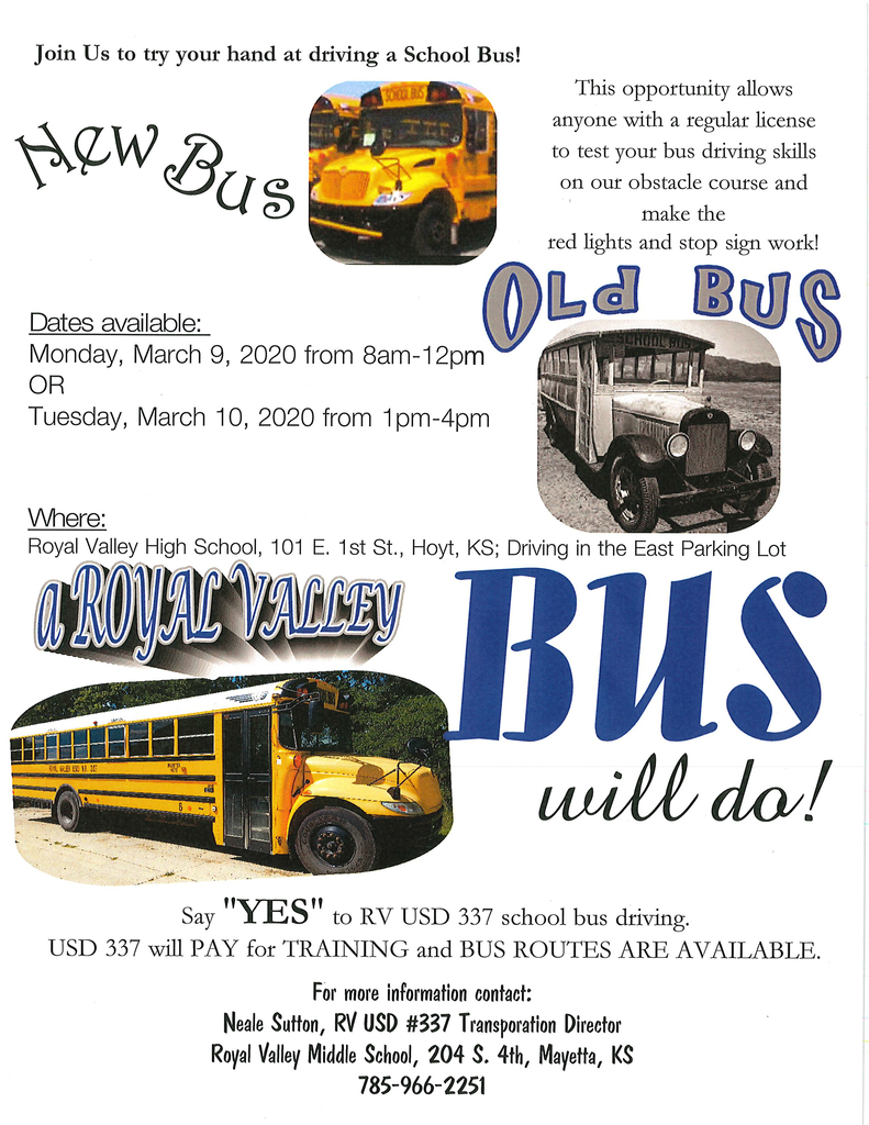 bus driving event flier
