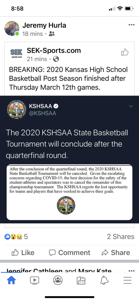 KSHSAA statement
