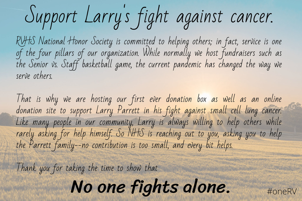 Support Larry Parrett poster