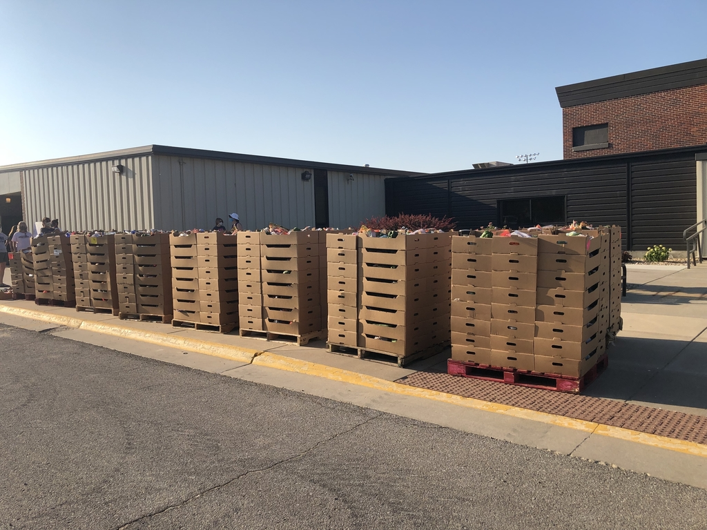 Stacks of produce boxes