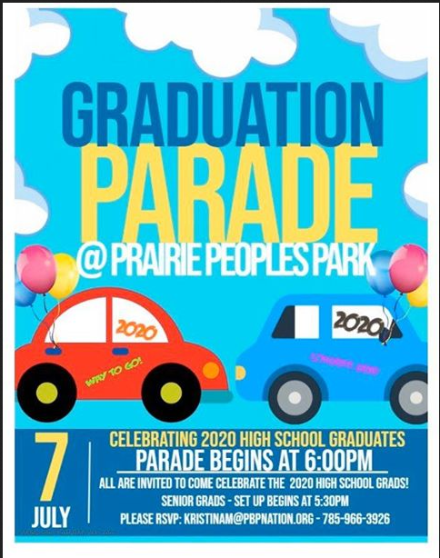 Graduation parade flier