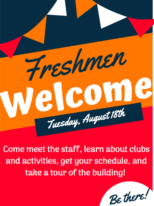 Freshman welcome flyer
