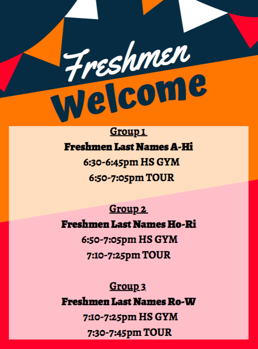 Freshman Welcome flier