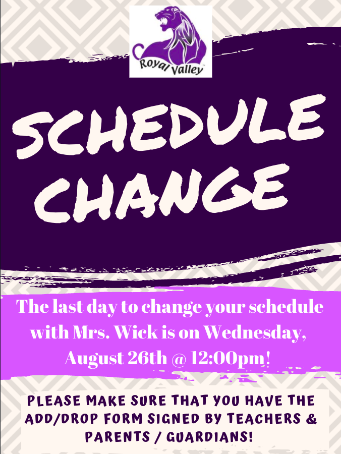 schedule changes flier
