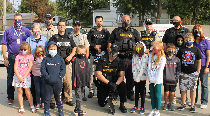 law enforcement officers and RVES students